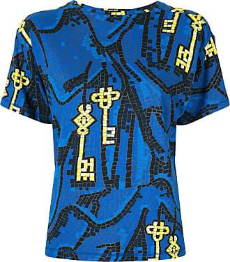 Karen Walker T-shirt Key of Knowledge - Di colore blu