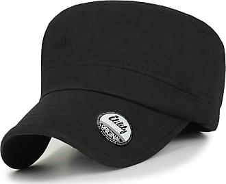 Ililily Military Vintage Biker Cotton Cadet Cap Stretch Flex Back (cadet-420-1) Black(Size: One Size)