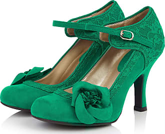 Ruby Shoo Belle Divino Exclusive Anna Emerald Green Lace Mary Jane UK 4