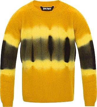 Palm Angels Round Neck Sweater Mens Orange