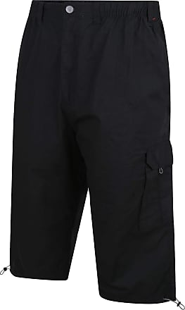 Espionage Mens Big Size Three Quarter Length Ripstop Cargo Shorts (047) Black