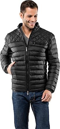 Vincenzo Boretti Mens Jacket Slim-fit Fitted Quilted Soft Long-Sleeve Lightweight Warm Smart Elegant Men Designer Padded Jacket Black M