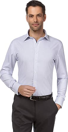 Vincenzo Boretti Mens Shirt Slim-fit Fitted Kent Collar Classic Design Contrasting Colour 100% Cotton Non-Iron Designer Shirts for Men Formal Office Wedding Ideal with