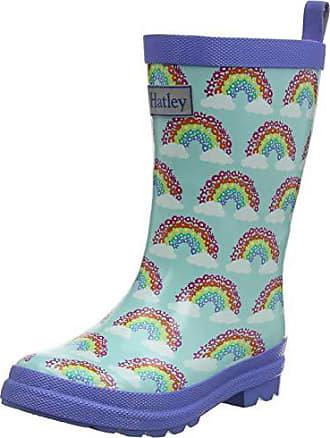 Rainbow Stripe 650 25 EU Hatley Printed Wellington Rain Boots Rose Bottes /& Bottines de Pluie Fille