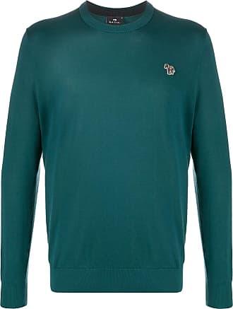 Paul Smith Suéter de algodão com logo de zebra - Verde