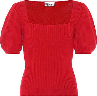 Red Valentino Ribbed-knit wool sweater