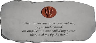 Kay Berry Outdoor Kay Berry When Tomorrow Starts Without Me Memorial Bench With Personalized Insert - 29 in. Cast Stone - 12765