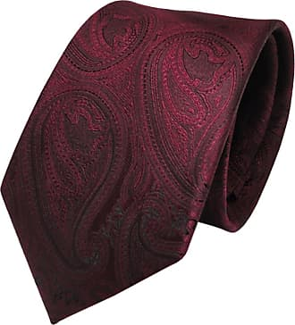 TigerTie Designer tie necktie red wine red black paisley patterned - Tie