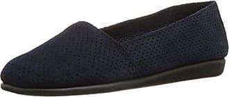 Aerosoles Womens Mr Softee Slip-On Loafer, Dark Blue Suede, 10.5 M US