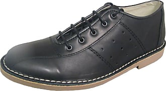 Ikon Original Mens Marriott Mod 60s 70s Leather Bowling Shoe Black 10 UK/44 EU