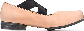 Uma Wang square toe crossover strap loafers - NEUTRALS
