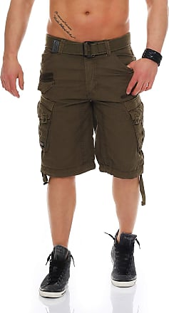 Geographical Norway Mens People Cargo Shorts - Brown - 3XL