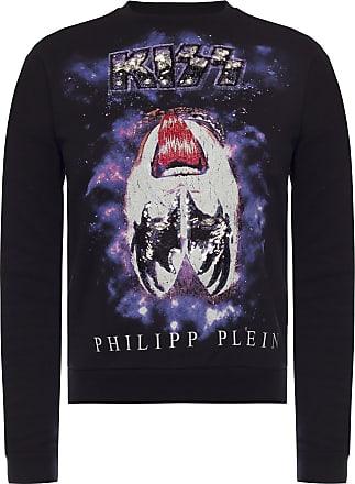 Philipp Plein Printed Sweatshirt Womens Black