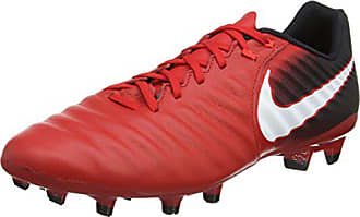 wholesale dealer b5d5a e5b9a Nike Tiempo Ligera IV FG, Chaussures de Football Homme, (Rouge  Université Noir