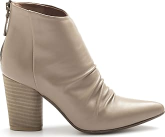 Zoe Marta Taupe Ankle Boots in Nappa Leather with High Heel - Marta 009 Nappa Taupe Brown Size: 8.5 UK
