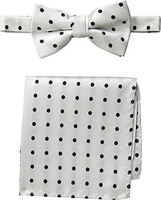 Stacy Adams Stacy Adams Mens Satin Dot Bow Tie Set, White/Black, One Size