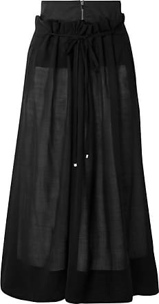 Tibi Layered Wool-blend Midi Skirt - Black