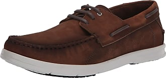 Driver Club USA Mens Made in Brazil Leather Boat Shoe, Tan Nubuck/Contrast Stitch, 6.5 UK