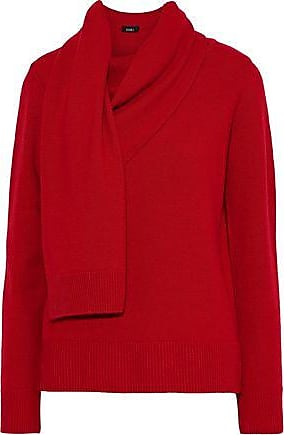 GOEN.J Goen.j Woman Draped Wool And Cashmere-blend Sweater Red Size S