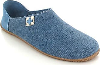 29b2c82f3fa242 Living Kitzbühel Damen Pantoffel Kreuz Pantoffeln Blau (Jeans) 47 EU