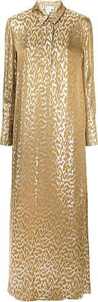 Layeur Vestido de seda metalizado - Metálico