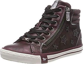 Mustang High Top Sneaker, Baskets Hautes Femme, Rouge (Bordeaux 55), 41 8d477b248c12