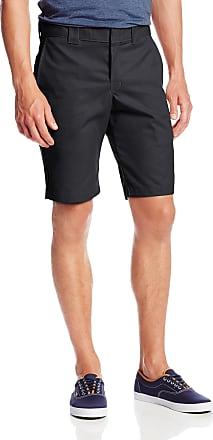 Dickies Mens 11 Inch Slim Fit Stretch Twill Work Short - Black