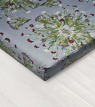 Dreamon Bedsheet With Rubber Crown Of Flower Grey