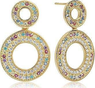 Sif Jakobs Jewellery Ohrringe Valiano Due - 18K vergoldet mit bunten Zirkonia