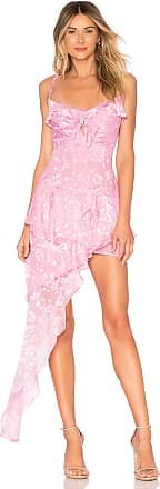 For Love & Lemons Cosmo Asymmetrical Dress in Pink