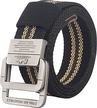 Zhhlaixing Unisex Belt Canvas Belt Breathable Braided Fabric Web Strap Adjustable for Jeans, Trouser,with Double D-Ring