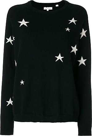 Chinti and Parker Suéter de cashmere com estrelas - Preto