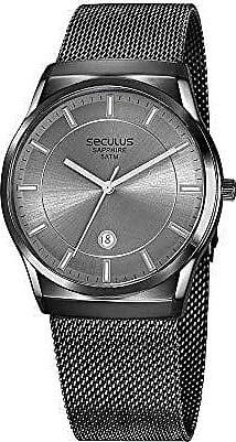 Seculus Relógio Seculus Masculino Ref: 23658gpsvsa2 Mesh Black