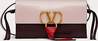 Valentino Garavani Valentino Garavani Borsa A Tracolla Vring In Vitello Lucido E Bufalo Multicolore Donna Rose Quartz Pelle Di Bufalo 100% OneSize