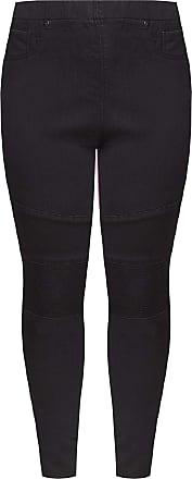 Yours Clothing Clothing Womens Biker Jenny Jeggings Size 30 Black