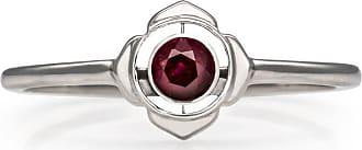 Zoe & Morgan Silber & Rubin Basis Chakra Ring - Small - Red/Silver