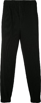 Homme Plissé Issey Miyake pleated tapered trousers - Black