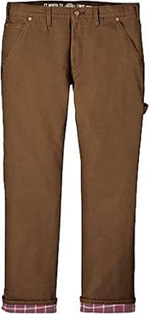 0653d7d0 Dickies Mens Relaxed Straight Fit Flannel-lined Carpenter Jean, Brown Duck,  30x32