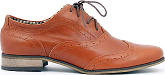 Zapato Womens Leather Oxford Shoes Model 246 Brown