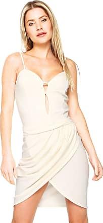 Ana Hickmann Vestido Ana Hickmann Curto Drapeado Off-White