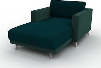 MYCS Relaxsessel Samt Eisblau - Eleganter Relaxsessel: Hochwertige Qualität, einzigartiges Design - 105 x 75 x 162 cm, Individuell konfigurierbar