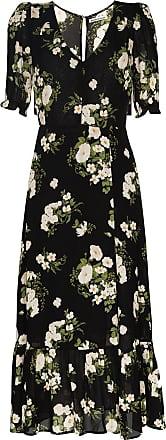 Reformation Vestido midi Celeste com estampa floral - Preto