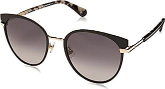 Kate Spade New York Kate Spade Womens Janalee/s Round Sunglasses, Black, 53 mm