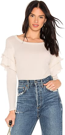 Chaser Gauzy Cotton Ruffle Shirttail Tee in Ivory