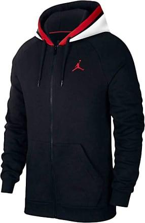 Nike Jordan Air Fleece Fz Hoody Men Black S (Small)