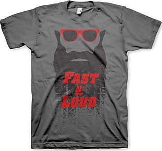 Gas Monkey Garage Officially Licensed Fast N Loud Kaufman Beard T-Shirt (Dark Grey), XXL