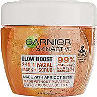 Garnier SkinActive Glow Boost 2-in-1 Facial Mask and Scrub