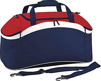 BagBase Teamwear Sport Holdall/Duffle Bag (54 Litres) (One Size) (French Navy/Classic Red/White)