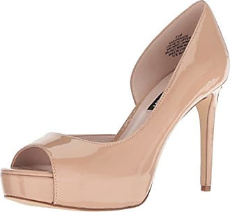 Nine West Womens Expensive Synthetic Pump, Light Natural, 9.5 M US