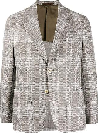 Eleventy fitted checked blazer - Brown